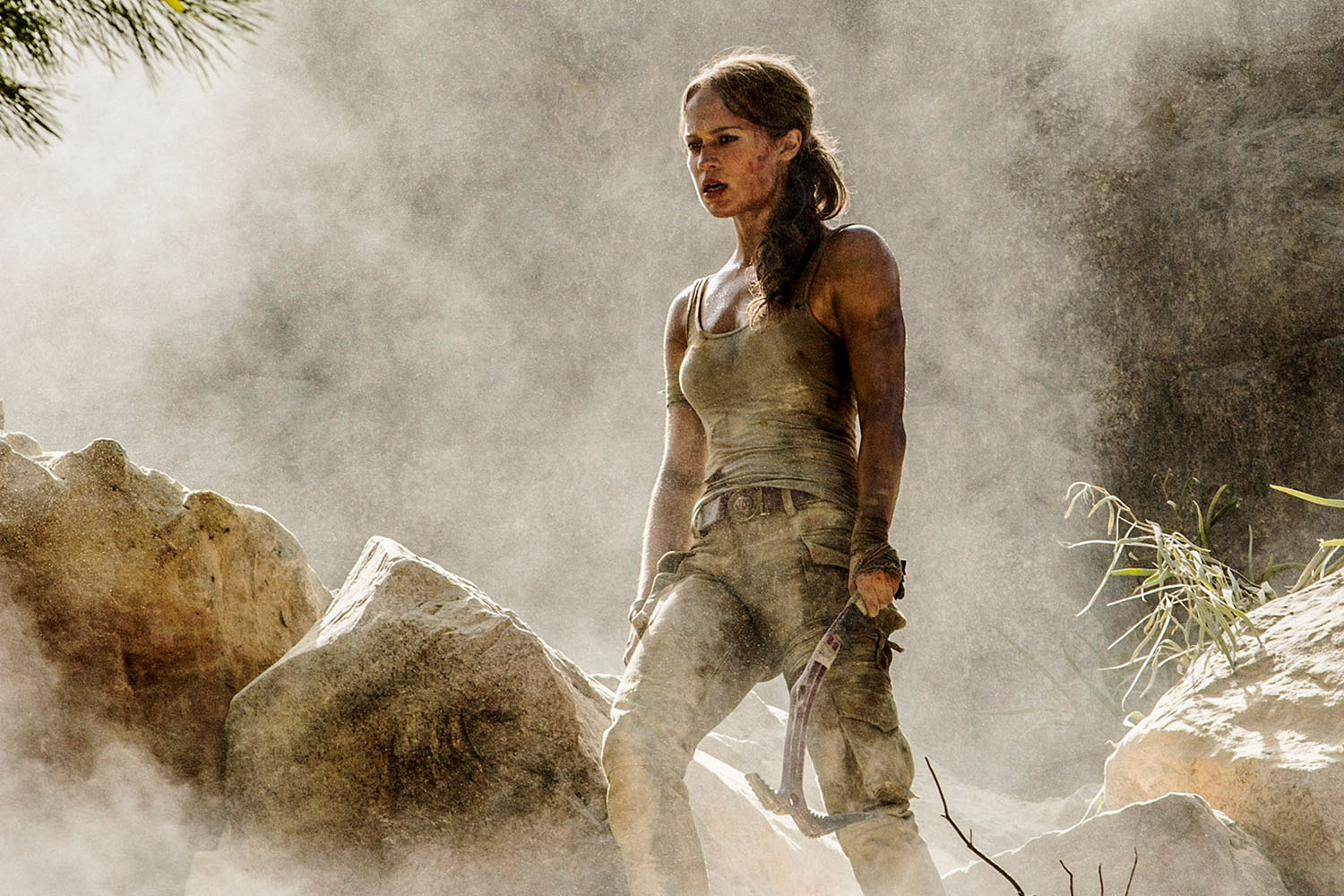 Alicia Vikander as Lara Croft in Tomb Raider 2018